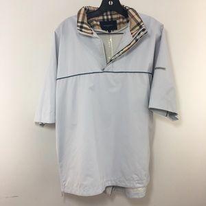 Burberry Mens Golf Jacket Windbreaker Short Sleeve